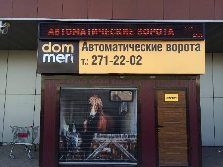 Аэрография на ворота в Красноярске
